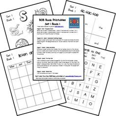 BOB Books ~ Printables for Set 1, Books 1-3  It takes a couple minutes to download, be patient