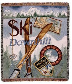 "Sports Tin Sign  Ski poles Aspen Colorado Metal Plate 8X12/"""