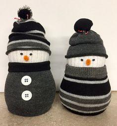 Sock snowman by CraftyCreationsbyH on Etsy