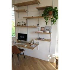 bureau crémaillère étagères - bibliothèque DIY