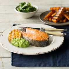 Try our delicious The ultimate crispy skin Huon Salmon and chips recipe prepared with Huon Aquaculture products.