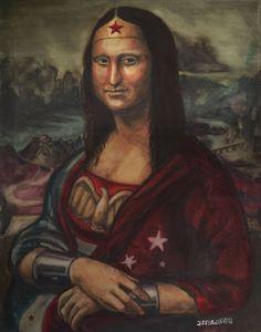 Mona Lisa as Wonder Woman#Repin By:Pinterest++ for iPad#