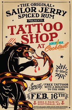 sailor jerry Spiced Rum: I just saw an ad for his rum recently on the T. Sailor Jerry Rum, Sailor Jerry Flash, Sailor Jerry Tattoos, Retro Ads, Vintage Advertisements, Vintage Ads, Vintage Posters, Vintage Tattoo Design, Tattoo Posters