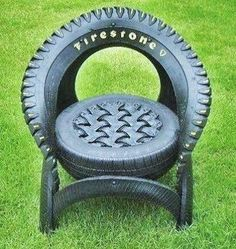 Super Yard Art Projects Craft Ideas Awesome 41 Ideas - All For Garden Tire Furniture, Recycled Furniture, Recycled Art, Furniture Design, Modern Furniture, Recycling, Diy Recycle, Tire Craft, Tire Garden