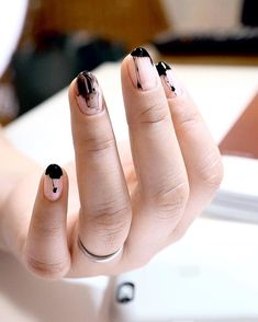 Nails Now, Polygel Nails, How To Do Nails, Hair And Nails, Acrylic Nails, Cute Pink Nails, Pretty Nails, Punk Nails, Nail Tip Designs