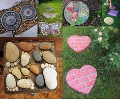 Stepping stones are essential to the garden because they are not only functional but also can be used to decorate your garden. Beautiful stepping stones can make the walk in your garden more exciting and fun.