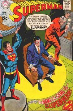 Superman 211 dc comics cover Curt Swan