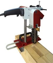 Swiss 3-in-1 Chain Mortiser - Timber Frame Tools: mortiser, slotter and door-lock mortiser