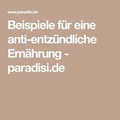 Beispiele für eine anti-entzündliche Ernährung - paradisi.de