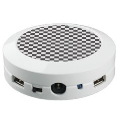 Black And White Checkered Pattern USB Charging Station