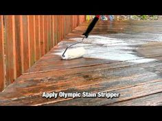 How to Strip Old  Deck Stain or Paint