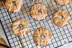 Maple Glazed Pumpkin Doughnuts