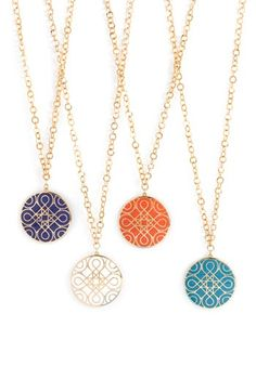 Colorful pendants
