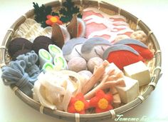 Felt food  Mix Shabu shabu set by TomomoHandmade on Etsy, $38.00