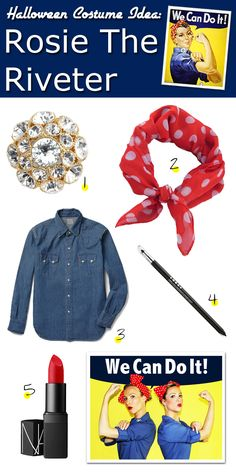 Fashionably Bombed: DIY Halloween Costume: Rosie The Riveter