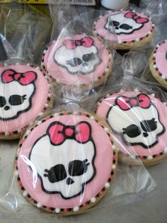 Monster High sugar cookies. $33.00, via Etsy.