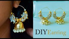 How to make earrings jhumkas | making Bollywood earrings Jhumkas | DIY e...