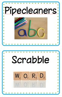 Word Work Ideas and free downloadable labels!