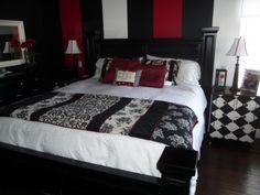 Black And Red Master Bedroom 20 coolest black and red bedroom design ideas | decor | pinterest