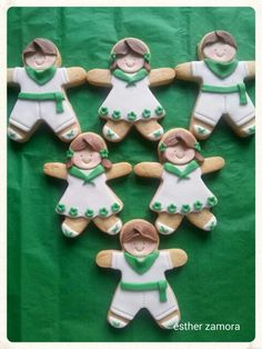 Decorated girl cookies, tennis girls