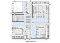 New Laboratories Building - University of Lausanne. Alberto Campo Baeza with Juan José Castellón Gonzalez, November 2016 Lausanne, Building Plans, Floor Plans, Flooring, How To Plan, Competition, November, University, Big