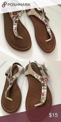 Xhilaration size 5 jeweled sandals Jeweled bling size 5 Xhilaration Shoes Sandals