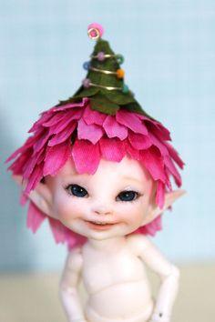 Flower Fairy hat for Real Puki Realpuki  by DesertMountainDoll