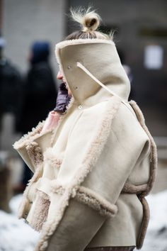 major shearling moment. NYC.