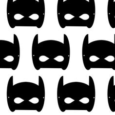 bat mask superhero fabric by charlottewinter on Spoonflower - custom fabric