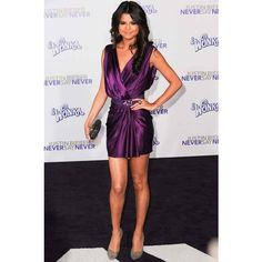 Selena Gomez at the Justin Beiber Never Say Never premiere > The... ❤ liked on Polyvore featuring selena gomez, selena and people