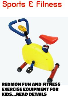 (This is an affiliate pin) Redmon Fun and Fitness Exercise Equipment for Kids - Happy Bike Exercise For Kids, Kids Reading, No Equipment Workout, Outdoor Power Equipment, Cardio, Bike, Fitness, Happy, Sports
