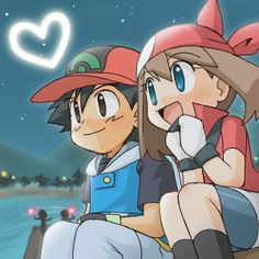 Ash and May under the Stars