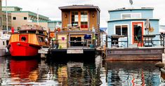 Live the floating life—literally—on Lake Union with these on-the-water homes in Westlake, Eastlake, and Wallingford. Trailerable Houseboats, House Boats For Sale, Floating Homes, Lake Union, West Lake, Seattle, Cabin, Live, Water