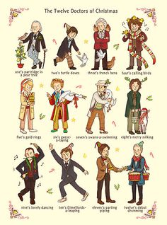 The Twelve Doctors of Christmas by AliciaMB :)