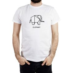 T-shirt ORIGAMI ELEPHANT di DSHIRT14 su Etsy
