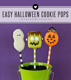 Easy Halloween Cookie Pops Recipe