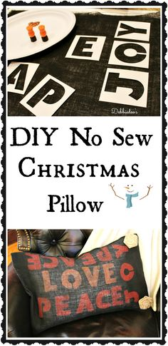 #diy no sew #Christmas pillow