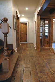 "7-1/4"" wide plank solid Vintage grade French Oak hardwood floor, custom Gray color, hand scraped, hand beveled (Tuscany Des .. #flooring #laminate"