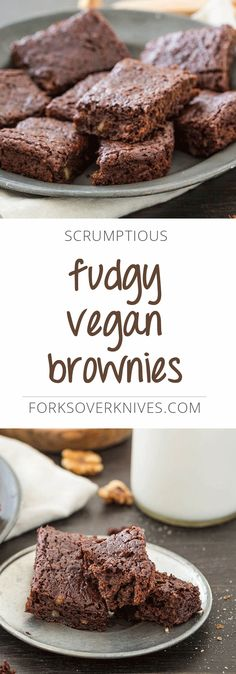 **double the recipe**  Moist, rich, and seriously fudgy, this no-fuss vegan brownie recipe delivers big chocolate flavor.