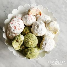 A melt-in-your-mouth, festive and traditional Greek holiday cookie recipe with two modern variations.