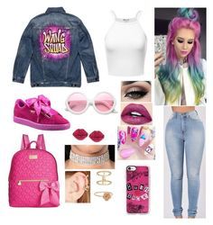 """""""Cool Kids"""" by divinemaboundou ❤ liked on Polyvore featuring Puma, Alexander Wang, Tiger Mist, c.A.K.e. by Ali Khan, Forever 21, LC Lauren Conrad, ZeroUV, Casetify and Betsey Johnson"""