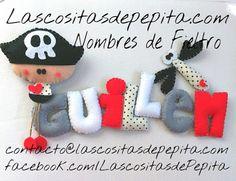 Las cositas de Pepita: Pepiton Tapón y los Nombres de Fieltro Infantiles