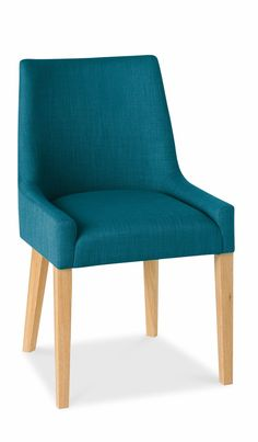 Buy the Ella Oak Scoop Back Dining Chairs at Oak Furniture Superstore £260 for 2