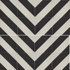 Cement Tile: Classic Stripes C in V-Layout