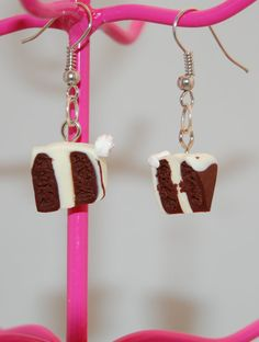 Cake Earrings  Polymer Clay  Kawaii  Food Jewelry by PunkInPink