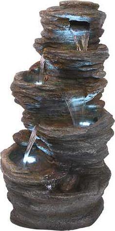 Fuente hecha con macetas de barro home diy pinterest for Cascadas y fuentes para jardin
