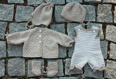 Baby doll clothes... my mom made hand knit baby doll clothes for me!