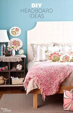 Freshen up that guest bedroom with a fabulous DIY Headboard before your holiday guests come calling! Click through for cheap headboard ideas: http://www.bhg.com/rooms/bedroom/headboard/cheap-chic-headboard-projects/?socsrc=bhgpin112013cheapandchicheadboards