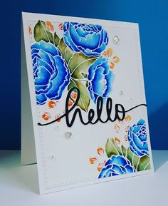 Happy Friday everyone! Today I have a video tutorial over on my blog showing how I coloured this beautiful Organic Blooms stamp from @mamaelephant - one of my favourite stamps from last year!  And I know blue flowers are rare, but not in my cardmaking world ☺. Wishing you all a happy weekend #onmyblog #mamaelephant #zigcleancolorrealbrush #watercolor #watercolour #cardmaking #handmadecards #card #florals