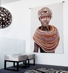 Using Art and Crafts in African Decor African Interior Design, African Design, African Art, Ethno Design, Art Tribal, Style Africain, Decoration Inspiration, Decor Ideas, African Home Decor